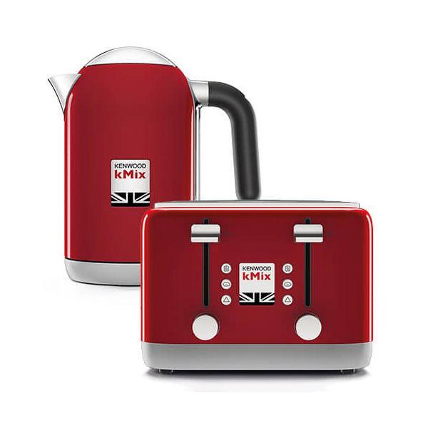 647213448 Kenwood kMix Kettle   Toaster Set Red
