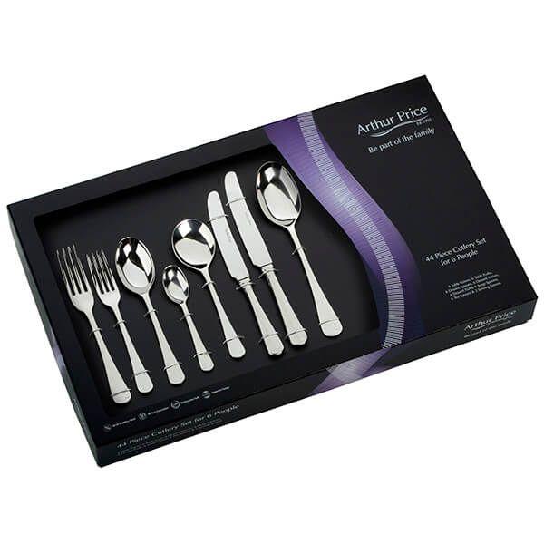 Arthur Price Classic Rattail 44 Piece Cutlery Gift Box Set FREE Extra Six Tea Spoons