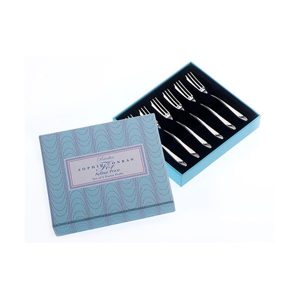 Arthur Price Sophie Conran Rivelin Set Of 6 Pastry Forks Gift Box