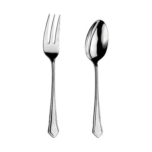 Arthur Price Classic Dubarry Serving Spoon & Fork Set