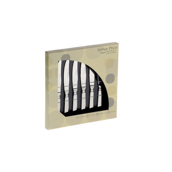 Arthur Price Classic Dubarry Set of 6 Steak Knives