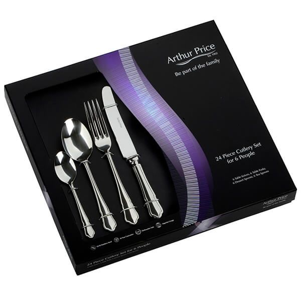 Arthur Price Classic Dubarry 24 Piece Cutlery Gift Box Set