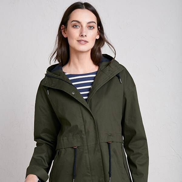 SeaSalt Polperro 3 Season Coat Woodland
