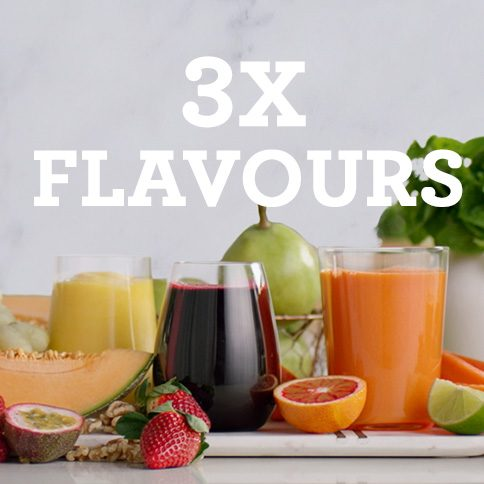 Bluicer - 3x Flavours