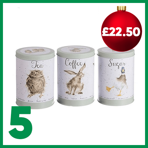 Fifth advent window - Wrendale Designs Tea, Coffee & Sugar Canisters