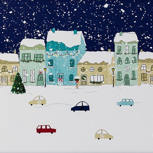 English Tableware Company Winter Scene