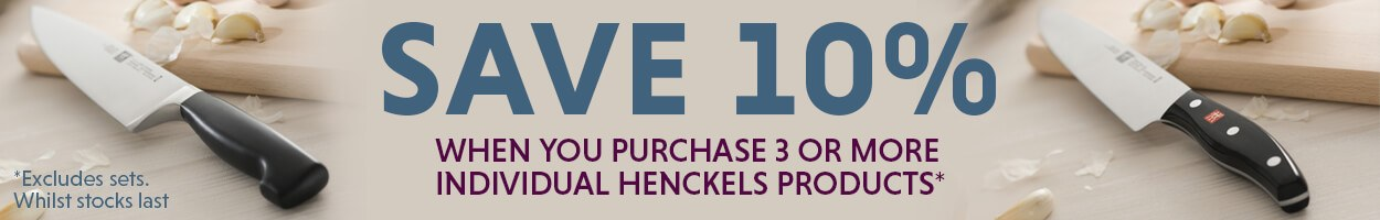 Henckels Offer - Buy 3 For 10% Off
