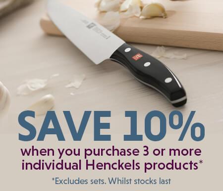 Henckels Offer - Buy 3 For 10% Off