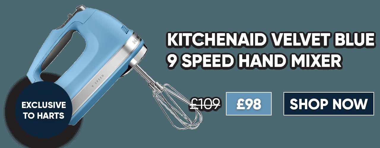 KitchenAid Velvet Blue 9 Speed Hand Mixer