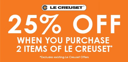 Le Creuset - Buy 2+ Le Creuset items for 25% off.