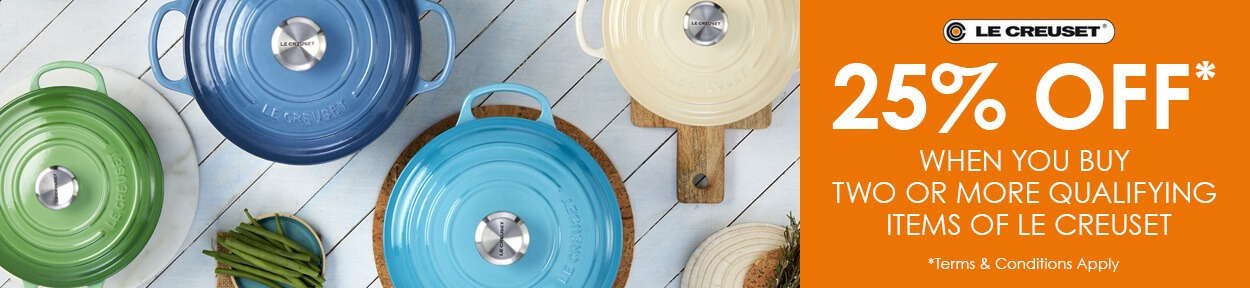 Le Creuset 2 For 25% Off