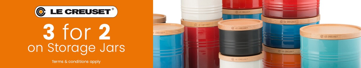 Le Creuset - 30% off when you spend over £450 on qualifying cookware, knives & kettles.