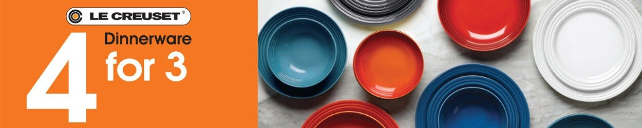 Le Creuset - 4 for 3 on Dinnerware