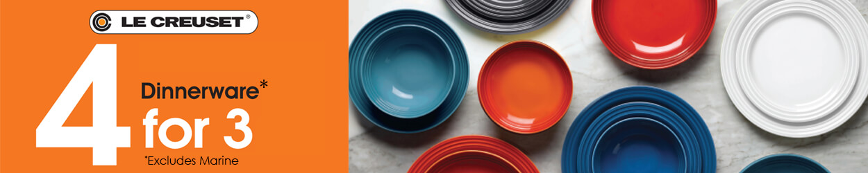 Le Creuset Dinnerware 4 For 3