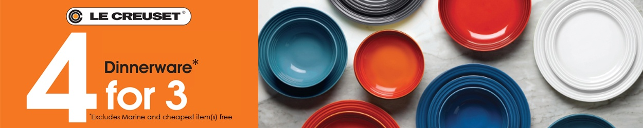 Le Creuset Dinnerware Offer