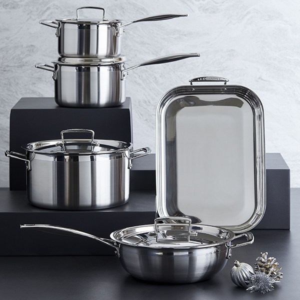 Le Creuset Zen Kitchen 3 Ply Stainless Steel Cookware