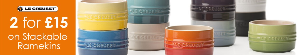 Le Creuset Stackable Ramekins 2 for £15