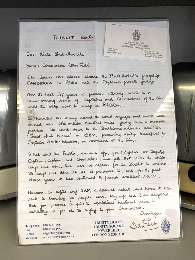 A letter from the Commodore