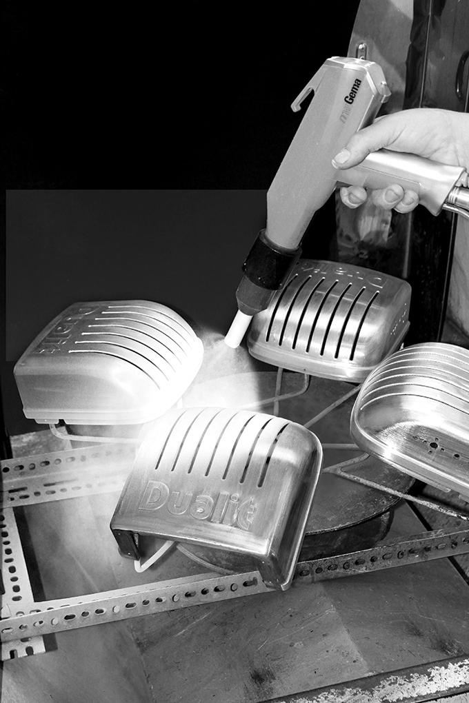 Making a toaster - spraying