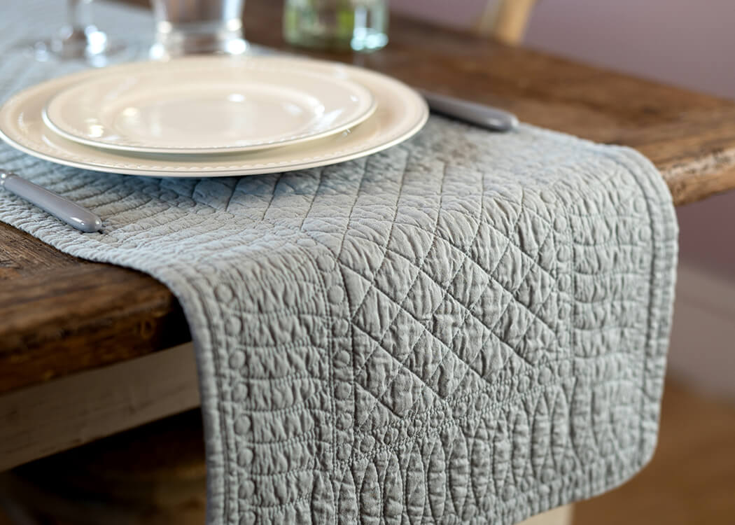 Mary Berry Signature Cotton Table Runner Grey