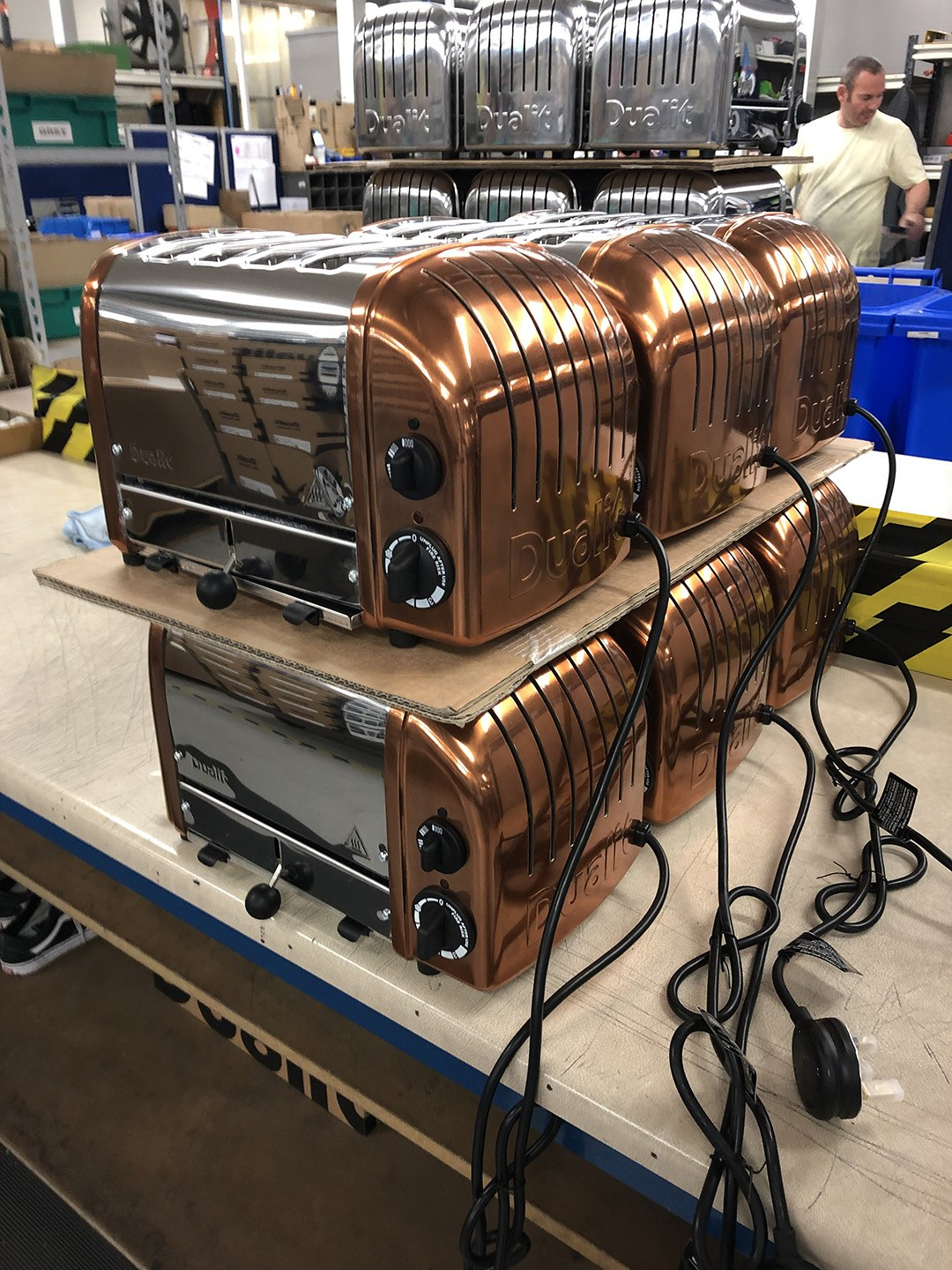 Toasters ready for packing