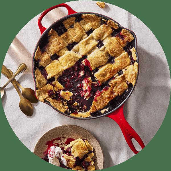 Le Creuset Cerise Cast Iron Pan
