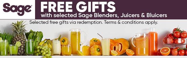 Sage Juice & Blend Free Gifts Banner
