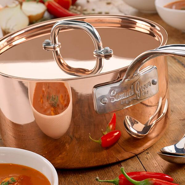 Samuel Groves Copper Induction Cookware