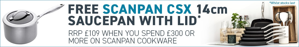 Spend £300 on Scanpan to get a free Scanpan Saucepan