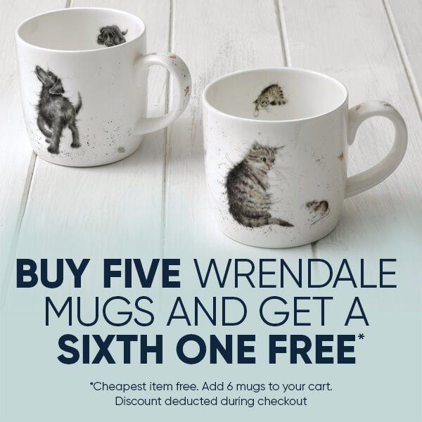 Wrendale 6 For 5 Mugs Offer